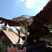 Dollywood - I loved this giant statue at the entrance to the wild eagle coaster. - Pigeon Forge, TN, Vereinigte Staaten