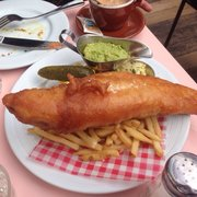 Fish and chips with guacamole. Only at…