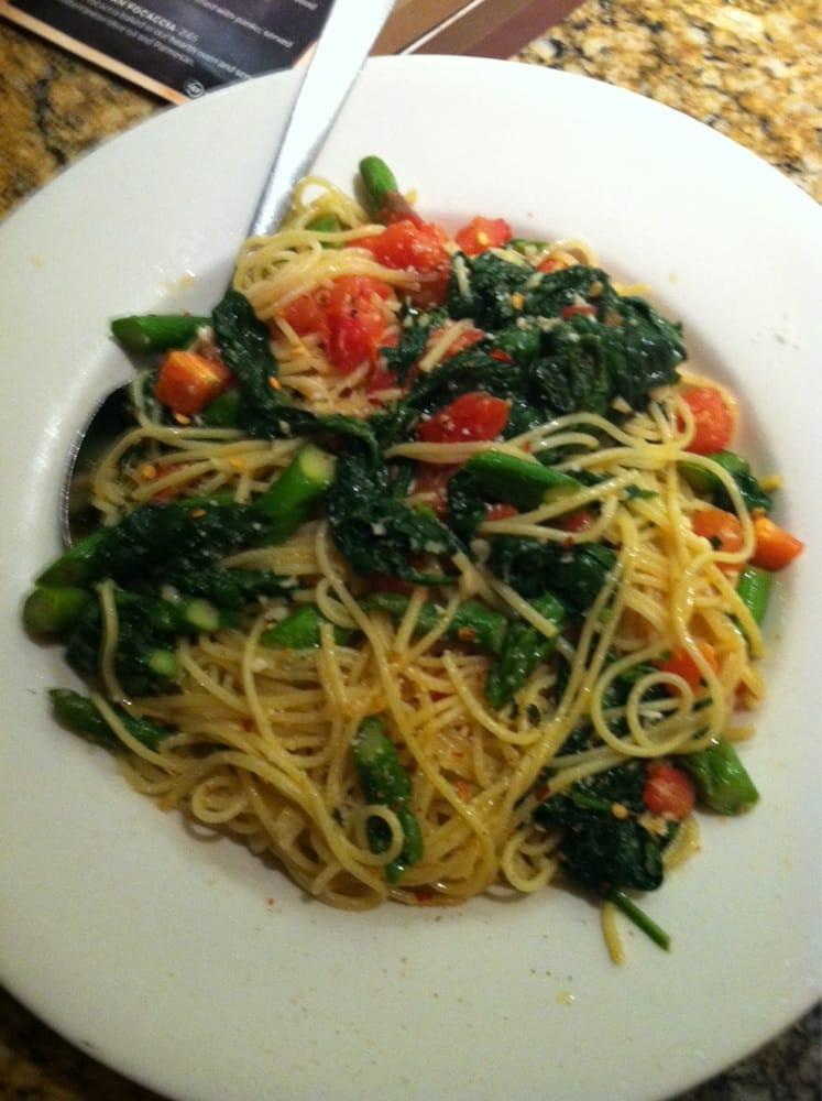 Asparagus And Spinach Spaghettini Yelp