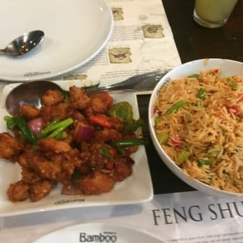 Inchin 39 s bamboo garden chilli chicken and schezwan fried rice sunnyvale ca united states for Inchin s bamboo garden sunnyvale