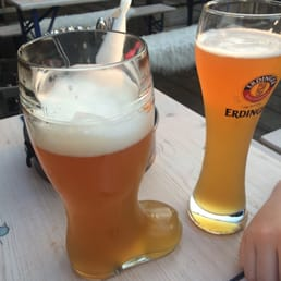 The beer mug boot comes in 1 and 2 liter sizes try the Edinger very good beer.