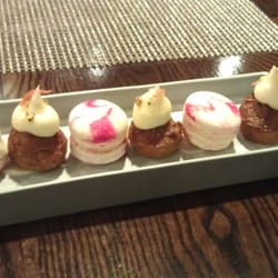 Petit fours - rhubarb macaroons and…