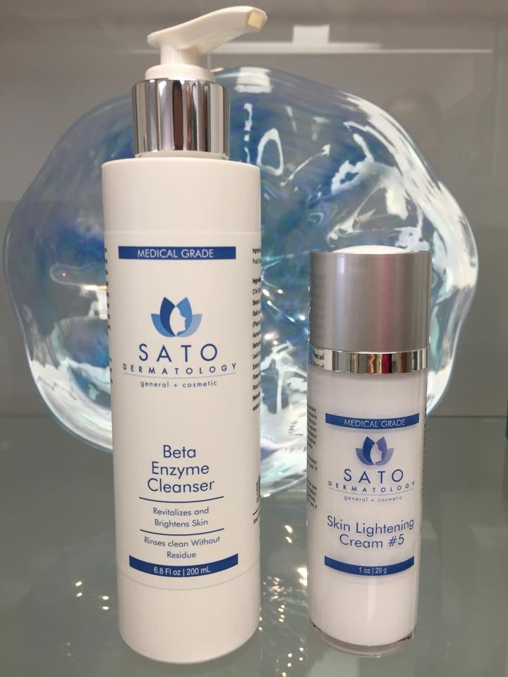Our own skincare line! our beta enzyme cleanser for $24, prescription medications for our patients including hydroquinone 5% f.