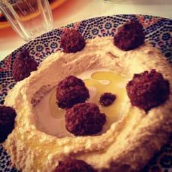 Houmous falafel