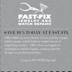 Fast fix jewelry and watch repairs uhrmacher pentagon for Fast fix jewelry repair