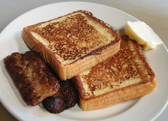 Crystal Diner - Texas French Toast with Sausage Links! - Bristol, CT ...