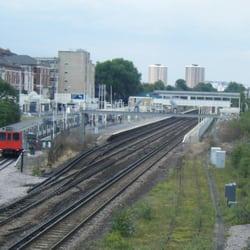 View from Kensington High Street bridge