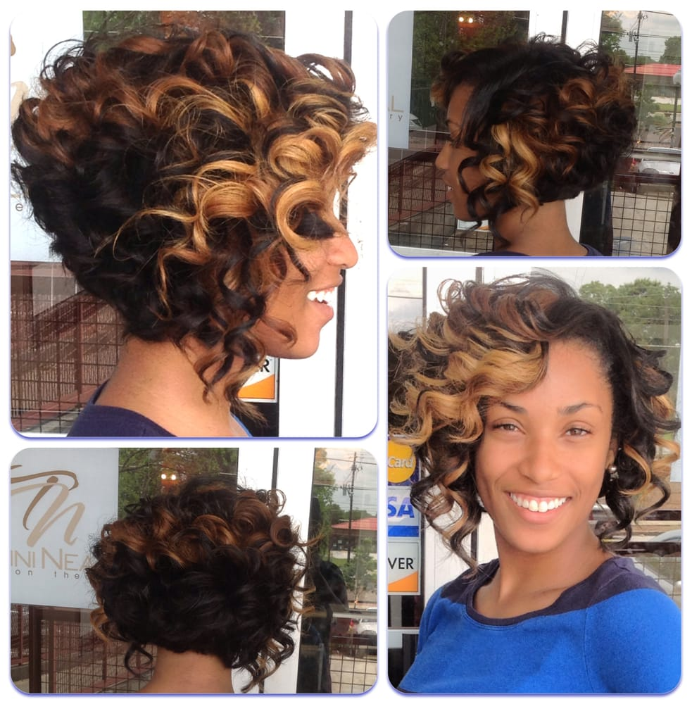 Curly Bob Sew in Hairstyles for Black Women