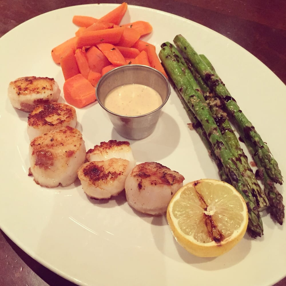 Cajun scallops with carrots and asparagus yelp for King s fish house corona