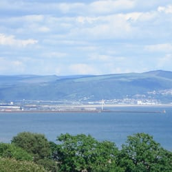 View from the top of Clyne Gardens, Swansea
