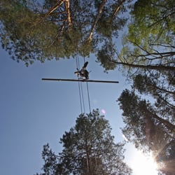 Als Seiltänzer in 6m Höhe
