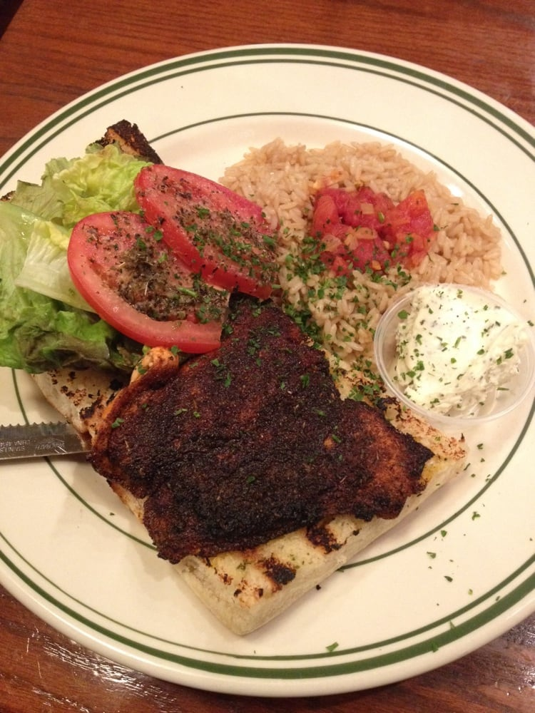 ... Hills, MI, United States. Blackened salmon sandwich w/ rice pilaf