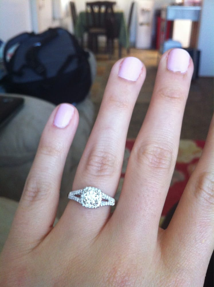 my coast engagement ring after getting it cleaned and