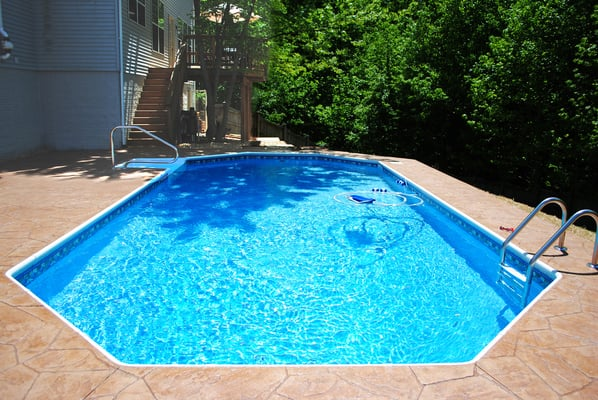New in ground grecian shaped swimming pool yelp for What is a grecian pool