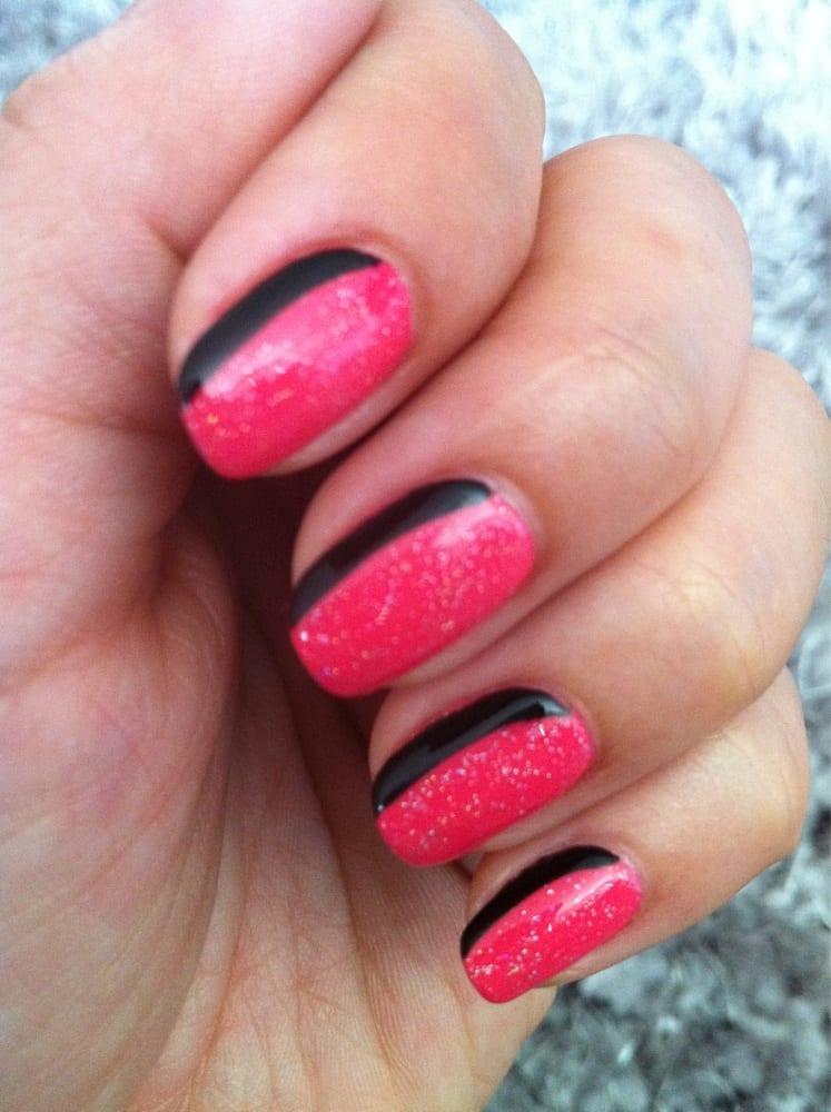 Sideways French Gel Manicure by Mindy | Yelp