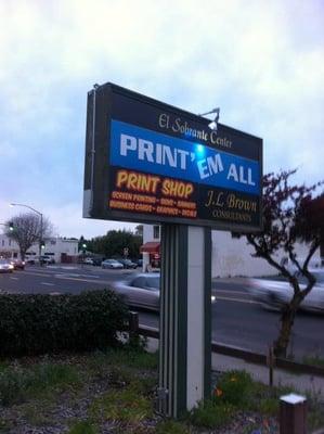 Print'Em All Street Sign