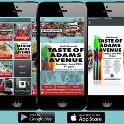 UrPhoneGuy - Mobile app for Adams Avenue Business Association we redesigned to highlight for each event. This time featuring Taste Of Adams - San Diego, CA, Vereinigte Staaten