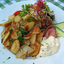 Roastbeef mit Bratkartoffeln
