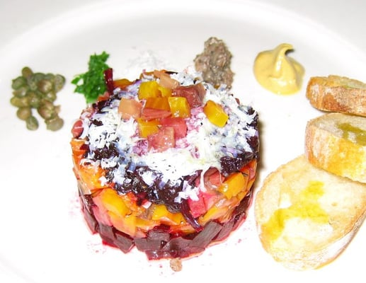 Roasted Beet Tartare with Chianti Vinegar and Ricotta Salata | Yelp