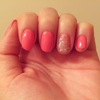Gel Manicure in Opi Kiss Me I