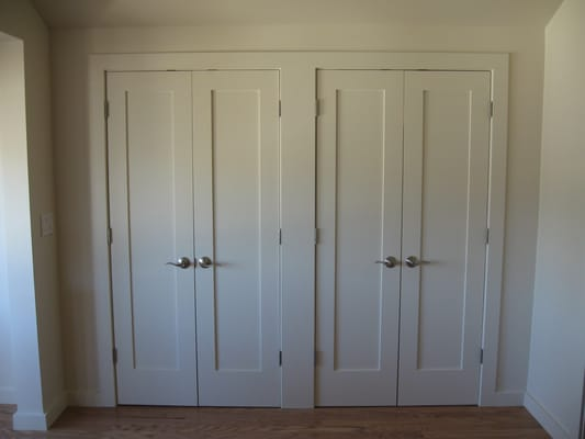 shaker style closet doors