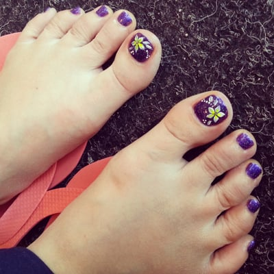 French Polish Pedicure Pedicure With Polish And