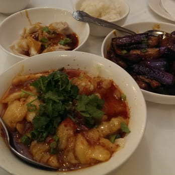 Houston, TX, United States. Signature Sichuan dishes: Red oil wonton ...