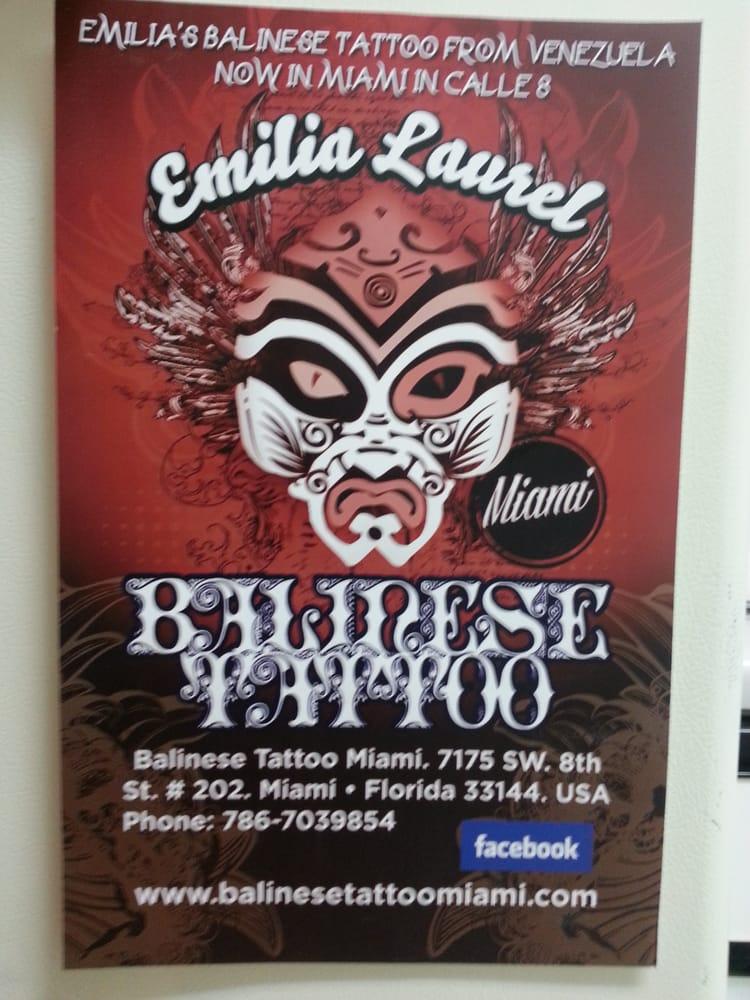 Balinese Tattoo Balinese Tattoo Miami