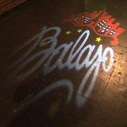 Balajo - Paris, France. Projeté sur le sol à l'entrée