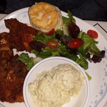 Freak - Astoria, NY, United States. Spicy Fried Chicken with a salad ...