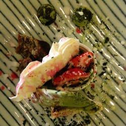 Le dessert... avec la glace au thé vert…