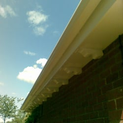 Fascia Boards Painted and New Guttering Fitted