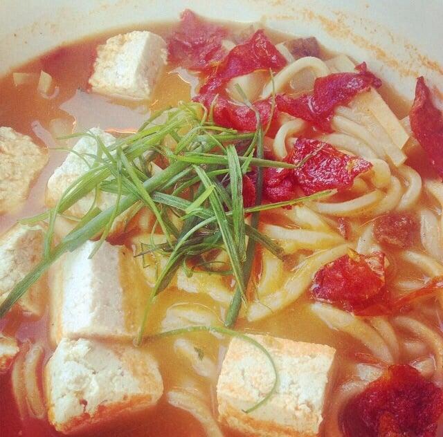 Tomato Coconut Curry Udon