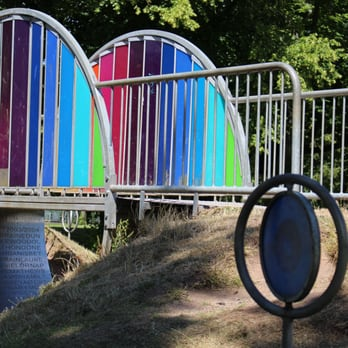 Colourful bridge in the Art Park