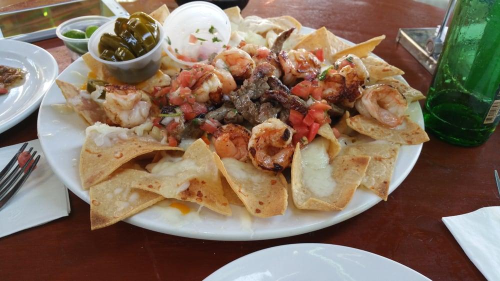 ... Cabo San Lucas, Baja California Sur, Mexico. Shrimp and steak nachos