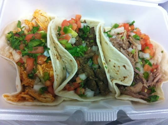 Soft tacos: chipotle chicken(special of the day), steak, and carnitas ...