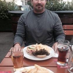 Bavarian burger and Mediterranean burger…