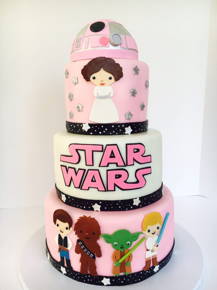 Pink City Cakes - Moreno Valley, CA, United States. Our Star Wars Baby shower Cake!