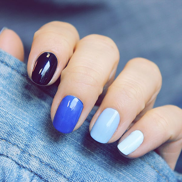 Gel Nails & Spa - Liberty, MO, United States. Have fun with Black-Blue