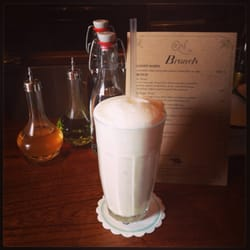 Ramos gin fizz for breakfast at the…