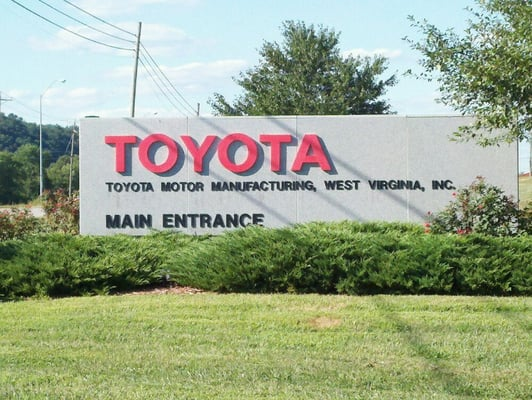 Toyota motor manufacturing west virginia 1 sugar maple for Motor manufacturers in usa