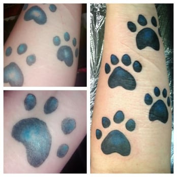 Twisted tattoo paw print tattoo i had done at a for Twisted tattoo chicago