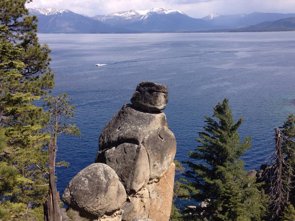 Rubicon Trail - South Lake Tahoe, CA, United States. Balancing rock