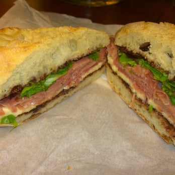 ... , United States. The prosciutto and brie sandwich. (With fig spread