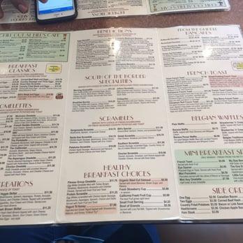 Bill S Cafe Pleasanton Menu
