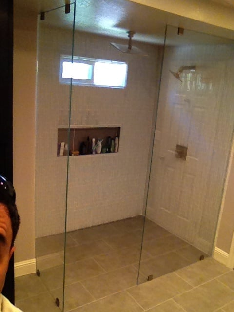 ... Floor To Ceiling Glass Shower Screen by Floor To Ceiling Shower Screens  3 8 Quot Extra ...