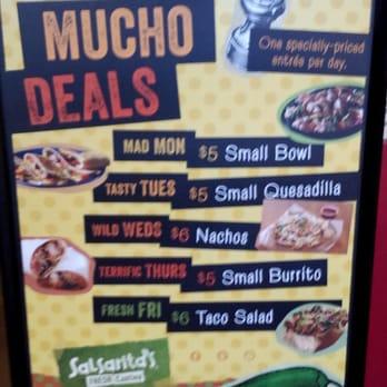 Salsarita's coupons discounts