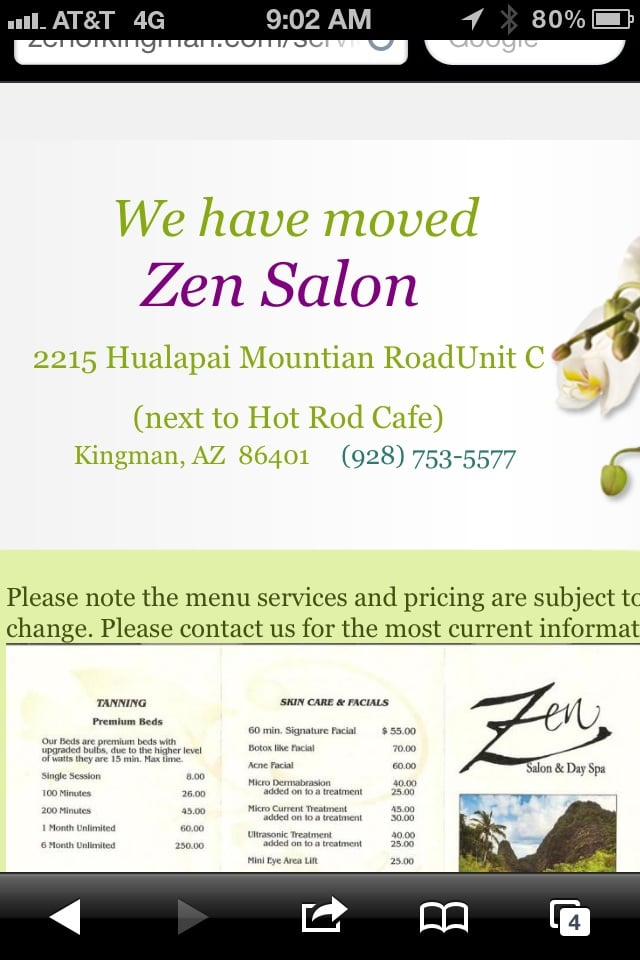 Zen salon and day spa hairdressers kingman az united for 24 hour nail salon brooklyn ny