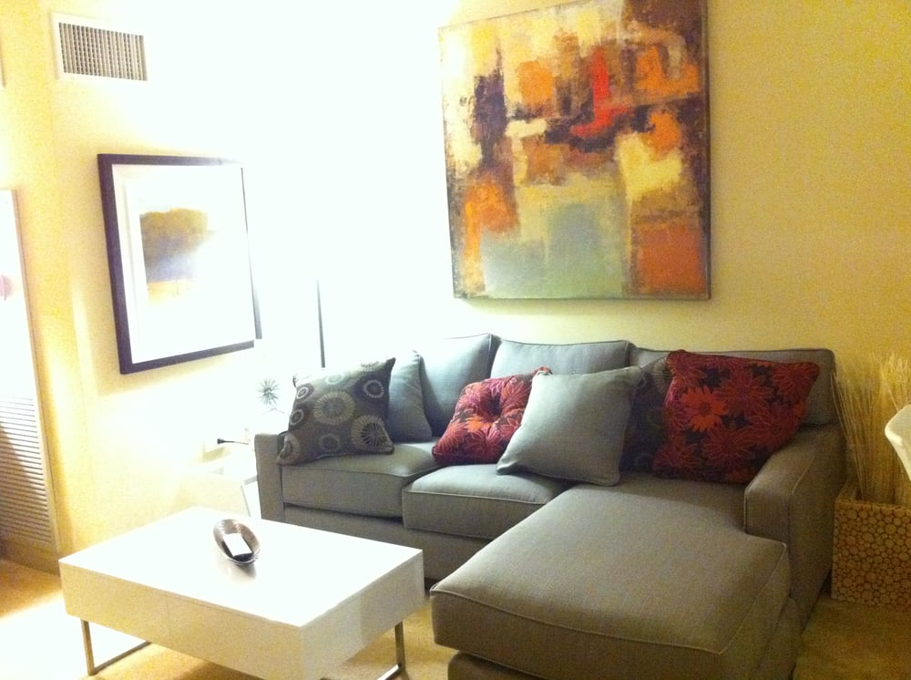 ... apartment (a convertible) living: small sectional, contemporary coffee