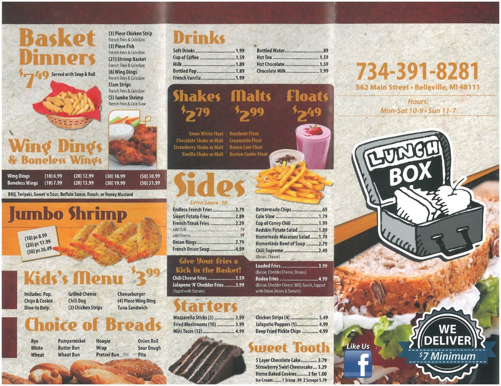 Belleville (KS) United States  City new picture : ... Lunch Box Belleville, MI, United States. The Lunch Box's New Menu